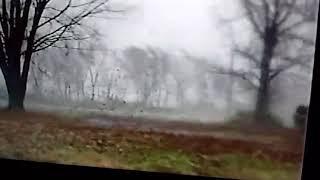 Security camera video from the Beaver Dam Kentucky EF-1 tornado on 11/18/2017
