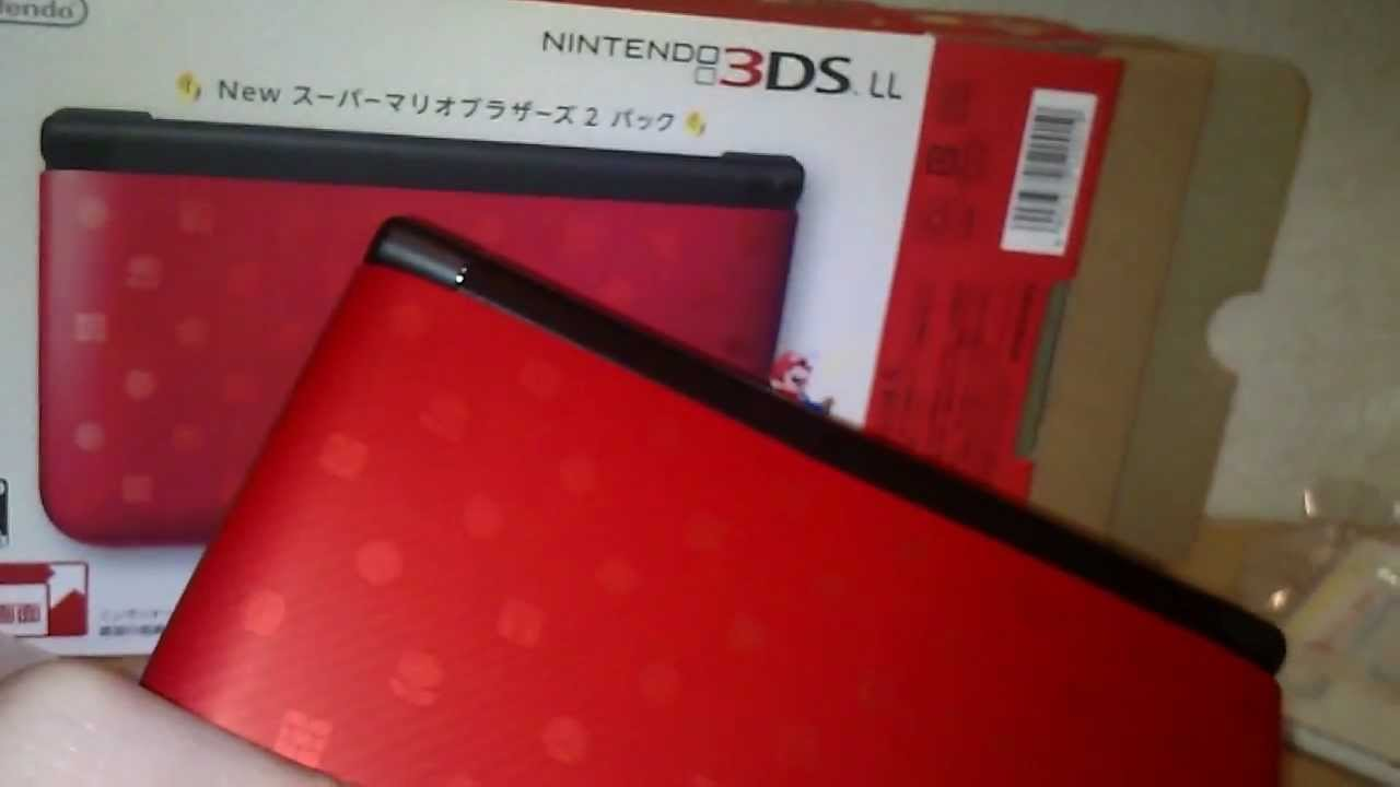 Unboxing New Super Mario Bros 2 Nintendo 3ds Xl Ll Limited