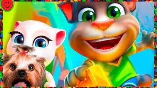 Говорящий Том Бег за золотом #1 Игровой мультик для детей про кота Том и Анжелу talking tom Gold Run