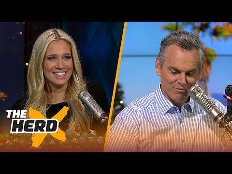 LeBron talks MVP award & Lakers are retiring two Kobe jerseys - Kristine and Colin react | THE HERD
