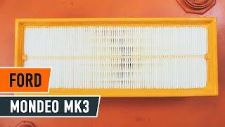 Kuinka vaihtaa ilmansuodatin FORD MONDEO MK3 Sedan -merkkiseen autoon [AUTODOC -OHJEVIDEO]