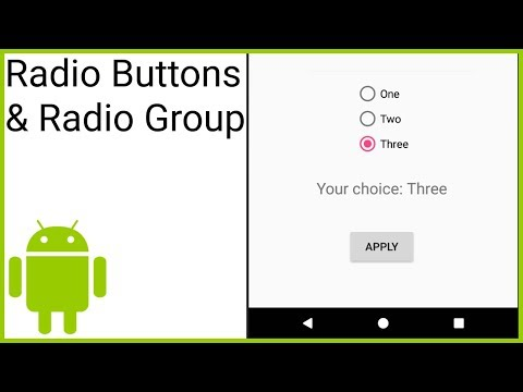 Radio Buttons & Radio Groups - Android Studio Tutorial