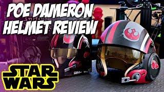 $80 Star Wars Poe Dameron Black Series Electronic X-Wing Pilot Helmet Review | Unboxing