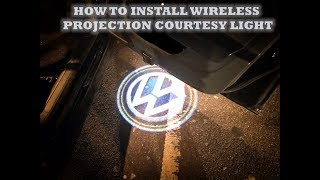 How to install Wireless Projection Ghost Lights (Courtesy Light)