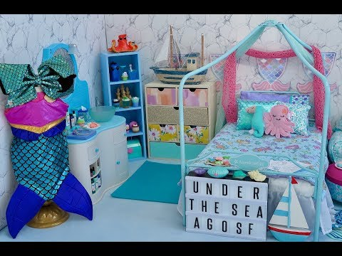 American Girl Doll Mermaid Bedroom!