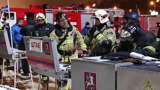 """В Москве потушили пожар на рынке """"Садовод"""""""
