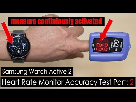 Samsung Galaxy Watch Active 2 Heart Rate Monitor Accuracy Test 2 (Measure Continuously Activated)