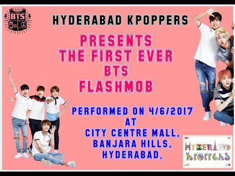 BTS FLASHMOB IN HYDERABAD BY HYDERABAD KPOPPERS | 방탄소년단 플래시몹 ---- 하이데라바드,인도