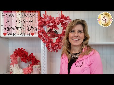 How To Make a NoSew Wreath  Shabby Fabrics