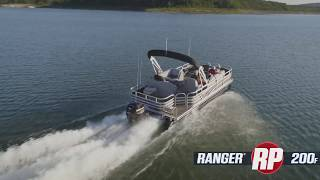 Ranger 200F Reata Pontoon On-Water Footage
