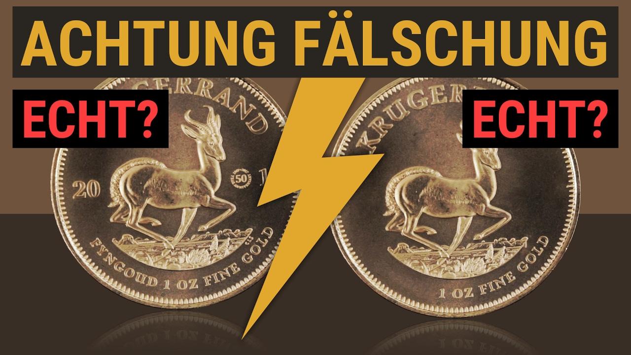 Gold Fälschung Welche Krügerrand Münze Ist Echt Achtung Youtube