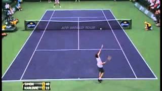 Karlovic vs Simon ATP Masters 1000 Indian Wells part 1/2