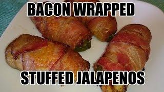 Tony Rican's Bacon Wrapped Stuffed Jalapeños #dudefood