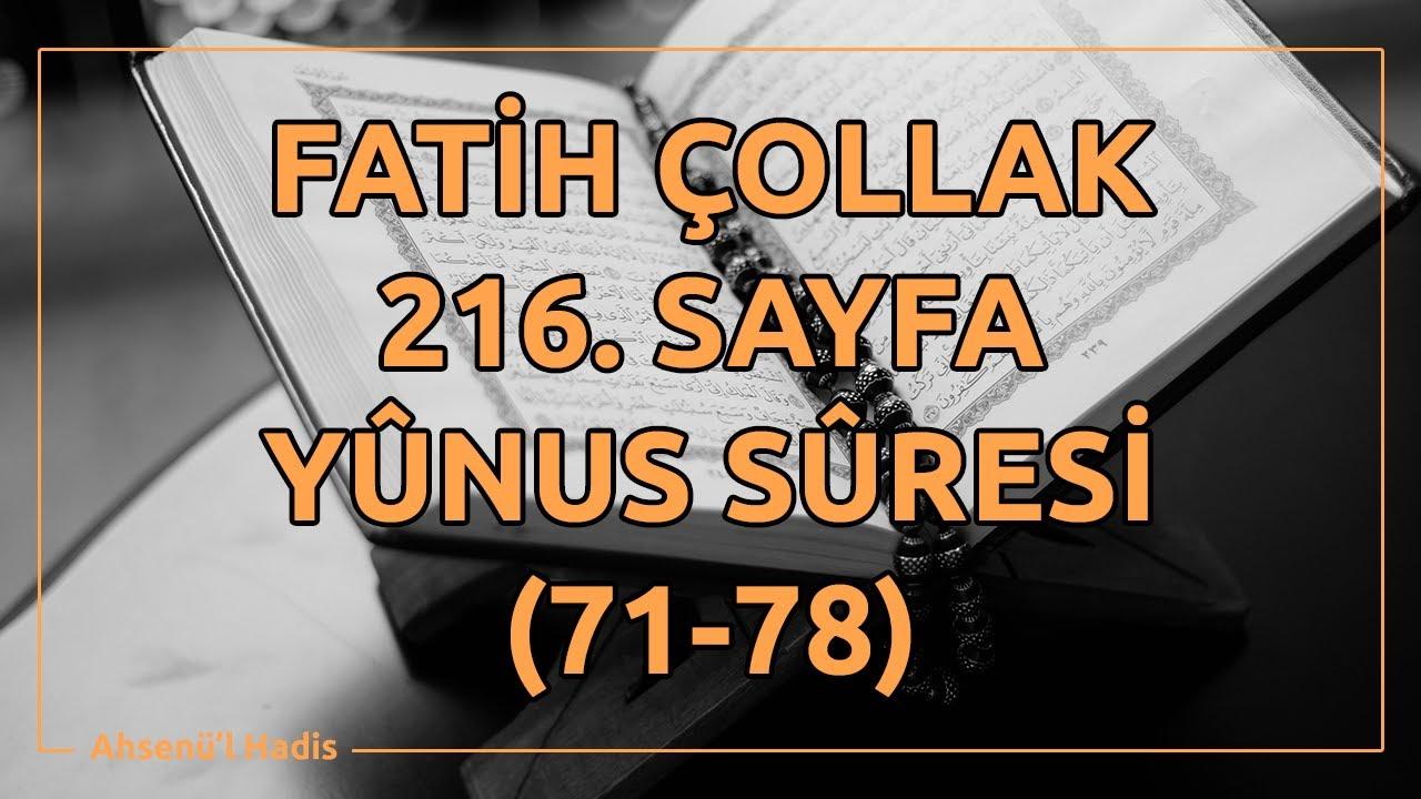 Fatih Çollak - 216.Sayfa - Yûnus Suresi (71-78)