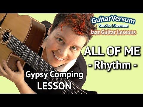 ALL OF ME - RHYTHM GUITAR LESSON - Gypsy Jazz Chords