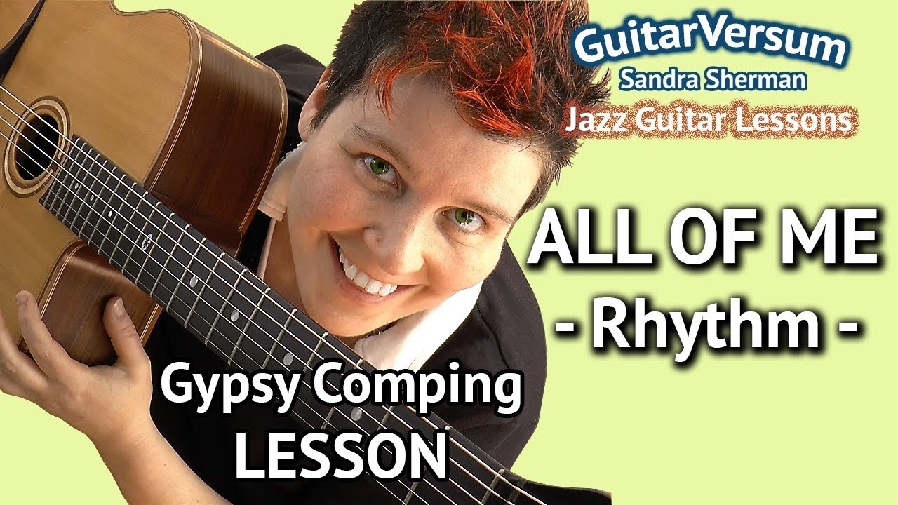 ALL OF ME - RHYTHM GUITAR LESSON - Gypsy Jazz Chords - YouTube