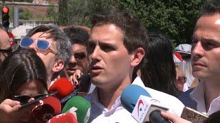 """Rivera dice que votará no """"con las dos manos"""" a Iceta en el Senado"""