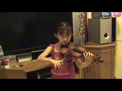 Natalia Playing Violin : The Two Grenadiers by Schumann Suzuki Violin Book 2