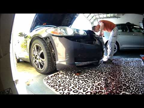 How to remove Jaguar XF bumper – to replace grill
