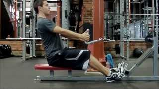 Sherwood Park Personal Trainer Shows How To Do The Seated Row Properly
