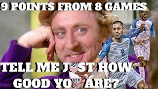 USA WILL NOT QUALIFY FOR THE 2018 FIFA WORLD CUP?