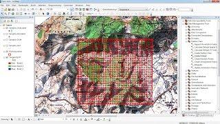 Create a Sampling grid using Arcgis /grid unter ArcGis