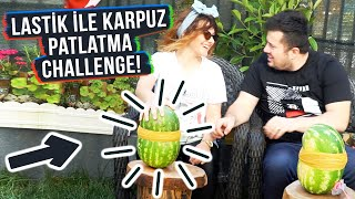 WATERMELON EXPLODING CHALLENGE WITH RUBBERS!