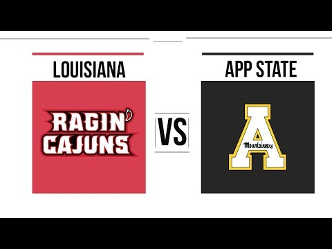 2018 Sun Belt Conference Championship Louisiana vs Appalachian State Full Game Highlights