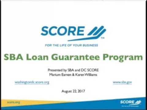 SBA Loan Guarantee Program