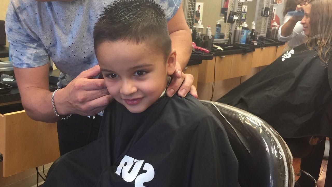 Kids First Haircut At The Supercuts Babys First Haircut Jai
