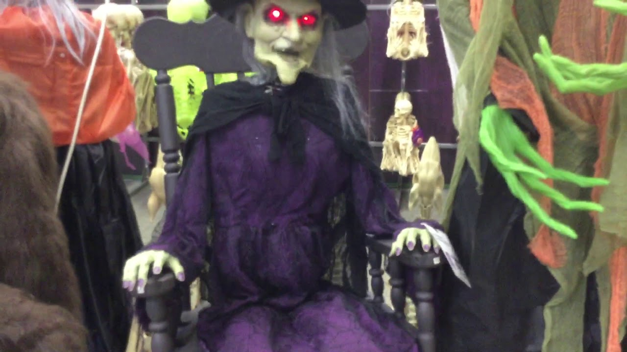 home depot rocking chair Witch in Rocking Chair   Home Depot Halloween 2018   YouTube home depot rocking chair