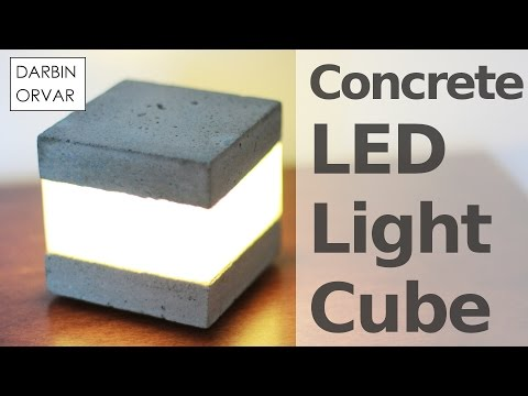Concrete LED Light Cube