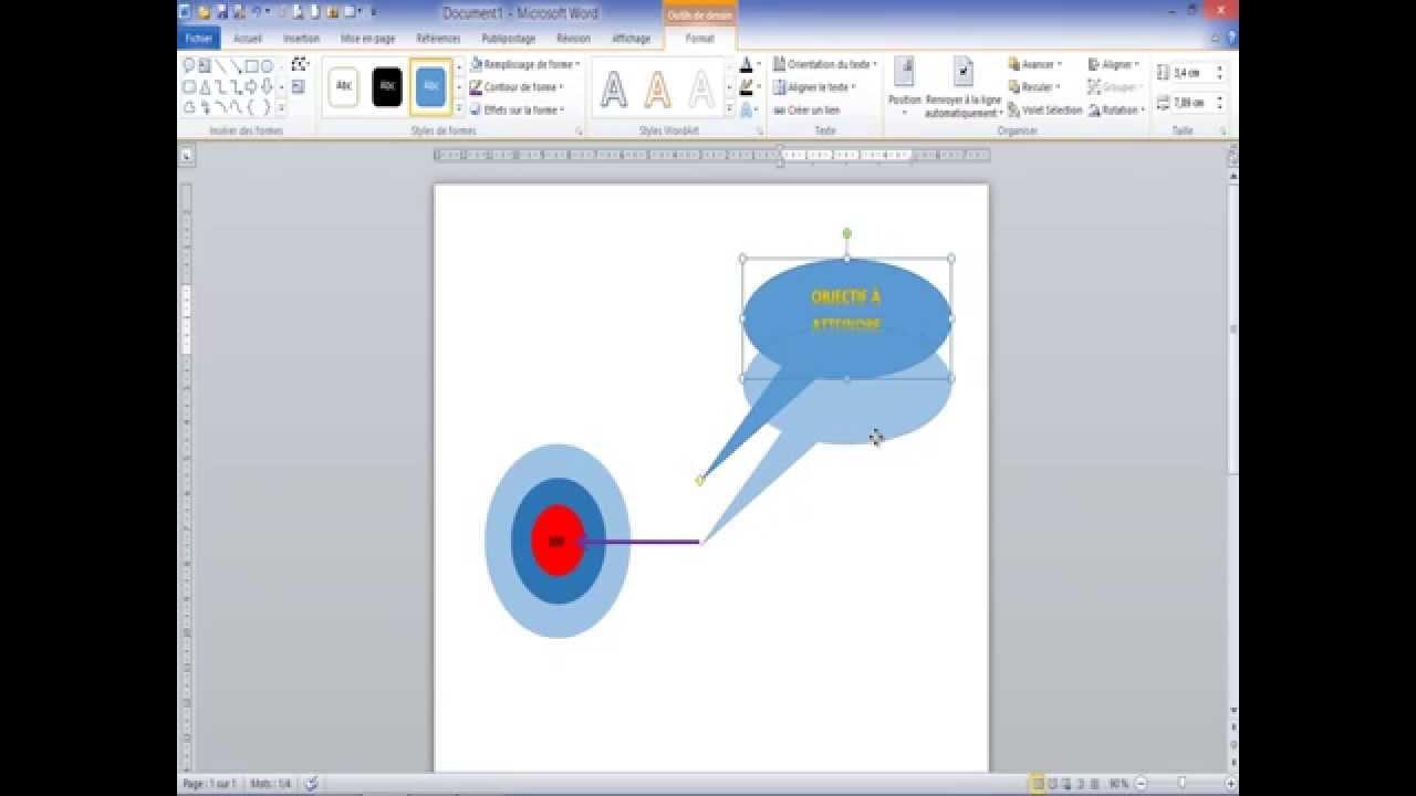 word - comment utiliser les outils dessin
