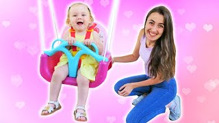 Sevcan Derine Unicornlu salıncak alıyor Anne Vlog. Bebek bakma videosu