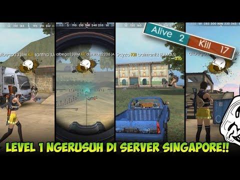 Auto Booyah!! Main di Server Singapore Kill 17!! Bot Semua!? - Garena Free Fire