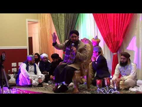 Allama Mufti Sohail Raza Amjadi Sahab in Mehfil e Milad of Philadelphia, PA USA December 25th 2017