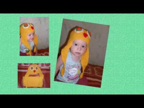 Детская шапочка и шарфик - Цыпленок( крючком)