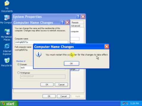 How to join domain in windows xp pdf