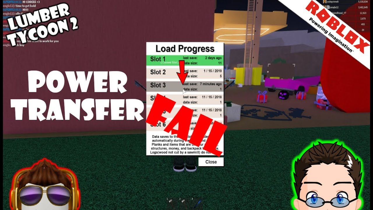 Roblox - Lumber Tycoon 2 - The Power Transfer (Failed)