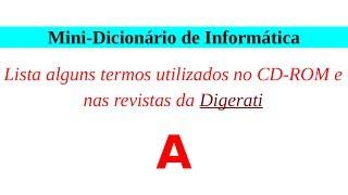 PCJ; Video-texto; Informática; Mini Dicionário de Termos Técnicos