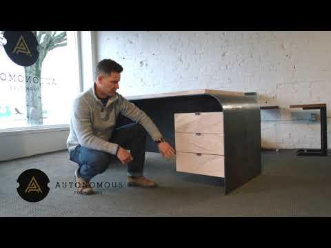 Odessa Desk by Autonomous Furniture | a dramatic modern industrial desk