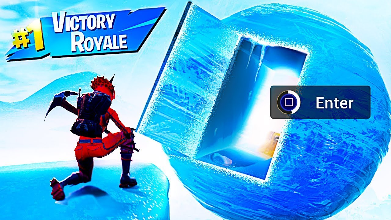how to get into the ice sphere in fortnite battle royale - how to break the ice in fortnite