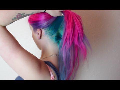 Magenta, Violet & Turquoise Hair Dye Tutorial