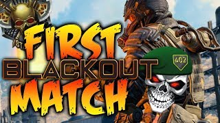 My First Blackout Battle Royale Gameplay in Black Ops 4..