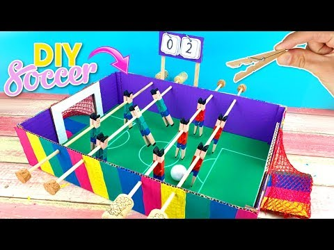 DIY Funny EASY CRAFTS for KIDS ⚽ RECYCLED Soccer GAME with empty cardboard box