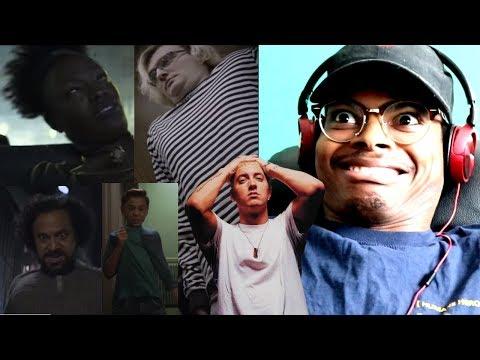 CRINGE ACTORS | Eminem - Venom (MUSIC VIDEO) | Reaction
