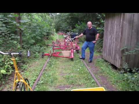Danske dressincykler / skinnecykler på tur i Sverige 2016