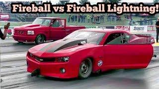 Fireball Camaro vs Fireball Lightning at No Prep Kings 2 Topeka Kansas thumbnail