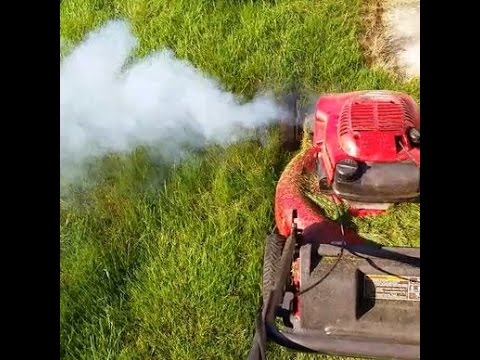 Lawn Mower White Smoke