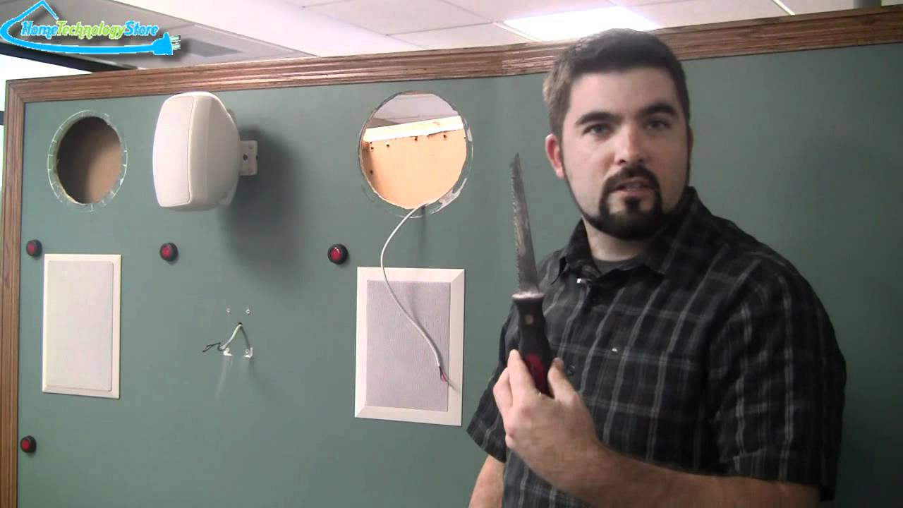 how to install a in ceiling or in wall speaker youtube rh youtube com installing bose speakers in wall wiring surround sound speakers in wall